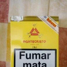 Paquetes de tabaco: PAQUETE TABACO CIGARRO PURO MONTECRISTO CUBA LA HABANA NUMERO 5. Lote 130871680