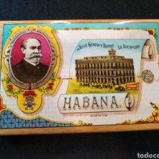 Paquetes de tabaco: PAQUETE DE TABACO, LA ESCEPCION HABANA CUBA, PICADURA SELECTA EXTRA FINA. Lote 130924945