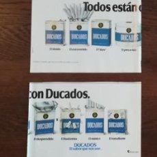 Paquetes de tabaco: RECORTE PRENSA PUBLICIDAD TABACO DUCADOS DOBLE PAGINA (15X21 CMS) X2. PAQUETE CIGARROS . Lote 130963276