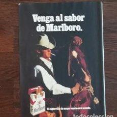 Paquetes de tabaco: RECORTE PRENSA PUBLICIDAD TABACO MARLBORO 28X21 CMS. PAQUETE CIGARROS . Lote 130963384