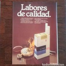 Paquetes de tabaco: RECORTE PRENSA PUBLICIDAD TABACO XXX 28X21 CMS. PAQUETE CIGARROS TRES EQUIS TRIPLE 1980. Lote 130963548