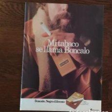 Paquetes de tabaco: RECORTE PRENSA PUBLICIDAD TABACO BONCALO 28X21 CMS. PAQUETE CIGARROS . Lote 130963616
