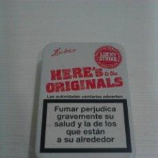 Paquetes de tabaco: CAJETILLA METÁLICA LUCKY STRIKE.. Lote 130997960