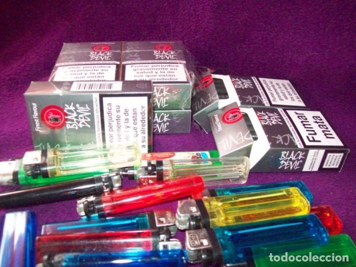 Paquetes de tabaco: 7 PAQUETES CIGARRILLOS BLAK DEVIL - 5 PRECINTADOS Y 2 ABIERTOS PERO COMPLETOS - REGALOS 11 mecheros - Foto 2 - 132017082