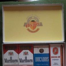 Paquetes de tabaco: CURIOSA CAJA CON PAQUETES DE CIGARRILLOS-RECUERDO DE BODAS DE PLATA-AÑOS 80-LEER DESCRIPCION. Lote 132708378