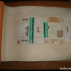 Paquetes de tabaco: (TC-212) ANTIGUO ALBUM CON MAS DE 90 PAQUETES DE TABACOS MUY INTERESANTE VER FOTOS DE TODOS. Lote 181232716
