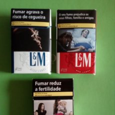 Paquetes de tabaco: 3 PAQUETES DE TABACO,VACIOS. DE PORTUGAL. Lote 132772430