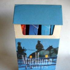 Paquetes de tabaco: CAJETILLA GRANDE MARLBORO LIGHTS COUNTRY SPECIALS DE 10 PAQUETES + 9 CAJETILLAS-COLECCIONISTAS-RARA. Lote 132784906