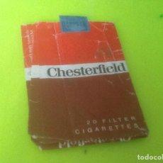 Paquetes de tabaco: CAJETILLA VACIA CHESTERFIELD, VER FOTO. Lote 132828454