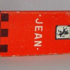 Paquetes de tabaco: (TC-130) CURIOSO PAQUETE TABACO 2 CIGARRILLO VACIO JEAN PUBLICIDAD PAPELERIA HELIOS. Lote 132866894