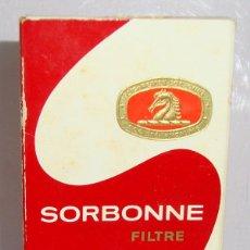 Paquetes de tabaco: (TC-130) CURIOSO PAQUETE TABACO 3 CIGARRILLO VACIO SORBONNE. Lote 132867178