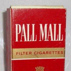 Paquetes de tabaco: (TC-130) CURIOSO PAQUETE TABACO 3 CIGARRILLO VACIO PALL MALL. Lote 132867362