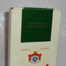 Paquetes de tabaco: (TC-130) CURIOSO PAQUETE TABACO 3 CIGARRILLO VACIO ATIKA INTERIOR PUBLICIDAD HOJA SPANTAX. Lote 132873734