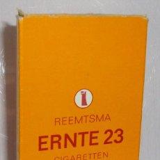Paquetes de tabaco: (TC-130) CURIOSO PAQUETE TABACO 5 CIGARRILLO VACIO ERNTE 23 INTERIOR HOJA PUBLICIDAD SPANTAX. Lote 132873990