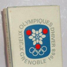 Paquetes de tabaco: (TC-130) CURIOSO PAQUETE TABACO 5 CIGARRILLO VACIO GITANES OLIMPIADAS DE INVIERNO GRENOBLE 1968. Lote 132874142