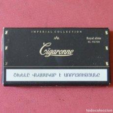 Paquetes de tabaco: CIGARONNE - ROYAL SLIMS - IMPERIAL COLLECTION - PAQUETE DE TABACO VACIO CON UN CIGARILLO. Lote 133058302