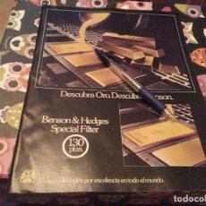 Paquetes de tabaco: ANTIGUO ANUNCIO PUBLICIDAD PARA ENMARCAR AÑO 84 CIGARRILLOS BENSON & HEDGES SPECIAL FILTER . Lote 133391294