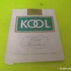Paquetes de tabaco: CAJETILLA VACIA KOOL, VER FOTO. Lote 133523802