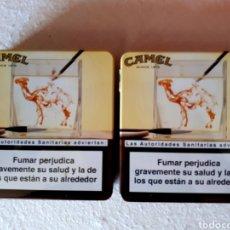 Paquetes de tabaco: DOS LATAS CAMEL (VACÍAS). Lote 133633511