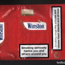 Paquetes de tabaco: PAQUETE DE TABACO DE LIAR WINSTON CLASSIC 30 GRAMOS · ADVERTENCIAS SANITARIAS EN INGLÉS. Lote 134018102
