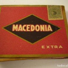 Paquetes de tabaco: ANTIGUA CAJETILLA DE TABACO MACEDONIA EXTRA. 10 SIGARETTE. ITALIA.VACIA.. Lote 134403906