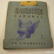 Paquetes de tabaco: ANTIGUO PAQUETE DE TABACO GAULOISES CAPORAL , 20 CIGARETTES. VACIO. Lote 134408018