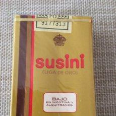 Paquetes de tabaco: PAQUETE TABACO CIGARRILLOS SUSINI PRECINTADO ESPAÑOL. Lote 135123031