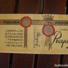 Paquetes de tabaco: FEDORA. Lote 135618806
