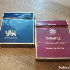 Paquetes de tabaco: LOTE DE 2. ANTIGUO PAQUETE DE TABACO MARCA DUNHILL Y PHILIP MORRIS. VACÍOS. CAJETILLA.. Lote 136064330