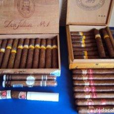 Paquetes de tabaco: (TA-181033)LOTE DE 31 PUROS HABANA(CUBA)-H.UPMANN,COHIBA,HOYO DE MONTERREY,GUANTANAMERA,SALIDA 1 EUR. Lote 136560578