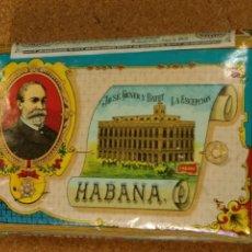 Paquetes de tabaco: PAQUETE DE PICADURA SELECTA DE TABACO, LA ESCEPCIÓN, JOSÉ GENER Y BATET. HABANA. Lote 136615842