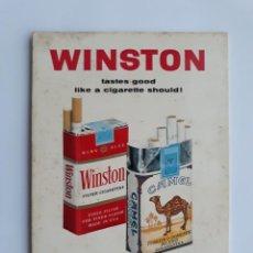 Paquetes de tabaco: DISPLAY, CARTEL PUBLICIDAD TABACO CIGARRILLOS WINSTON Y CAMEL, CIGARRO, CARTON DURO. Lote 137753014
