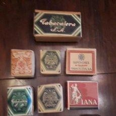 Paquetes de tabaco: COLECCIÓN LOTE 10 PAQUETES CIGARRILLOS TABACO. SIN ESTRENAR. ANTIGUOS.. Lote 138875230