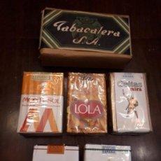 Zigarettenschachteln - Lote 6 paquetes tabaco cigarrillos antiguos. Sin estrenar. Record, Lola, Mencis, Celtas, Tabacalera. - 138875862