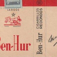 Paquetes de tabaco: ENVOLTORIO PAQUETE DE TABACO CIGARRILLOS BEN HUR - -C-53. Lote 139745478