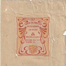 Paquetes de tabaco: ENVOLTORIO PAQUETE DE TABACO TABACALERA PICADO ENTREFINO - -C-53. Lote 139749338