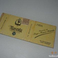 Paquetes de tabaco: ANTIGUO PAQUETE DE TABACO CIGARRILLOS * MASCOTA * SUCESORES DE DIEGO MORENO MIRANDA ISLAS CANARIAS. Lote 139770642