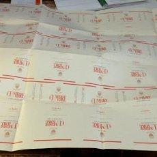 Paquetes de tabaco: PLANCHA DE ETIQUETAS DE TABACO CUMBRE. Lote 142238078
