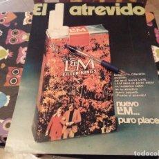Paquets de cigarettes: ANTIGUO RECORTE PÙBLICIDAD REVISTA ANUNCIO TABACO L&M FILTER KINGS PARA ENMARCAR. Lote 142669590