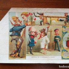 Paquetes de tabaco: AVENTURAS DE UN RECLUTA - 4 MARQUILLAS ( PAQUETES ) DE TABACO FABRICA LA HONRADEZ CUBA 1860/1870. Lote 142958866