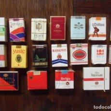Paquetes de tabaco: 18 PAQUETES TABACO AÑOS 70 - SIN ABRIR - COMPLETOS.. Lote 143435046