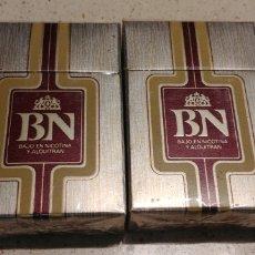 Paquetes de tabaco: DOS CAJETILLAS TABACO BN PRECINTADAS. Lote 143720414