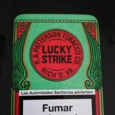 Paquetes de tabaco: CAJA METALICA DE LUCKY STRIKE. Lote 143783882