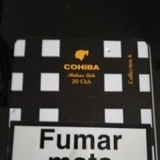 Paquetes de tabaco: CAJA METALICA DE COHIBA. Lote 143784474