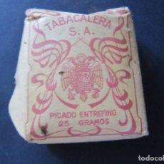 Paquetes de tabaco: ANTIGUO PAQUETE TABACO PICADO ENTREFINO 25 GRAMOS. Lote 143855446