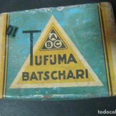 Paquetes de tabaco: CAJA METALICA TUFUMA BATSCHARI 50 TUFUMA SANS BOUT CIGARETTES. Lote 143855962