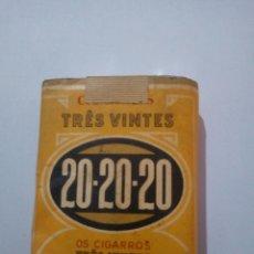 Paquetes de tabaco: PAQUETE DE TABACO TRES VINTES SIN ABRIR. Lote 144020722