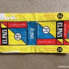 Paquetes de tabaco: ANTIGUO PAQUETE DE TABACO EL PAIS. Lote 144225774