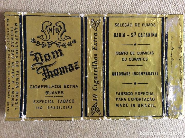 PAQUETE DE TABACO DOM THOMAZ MADE IN BRAZIL 10 CIGARRILLOS EXTRA (Coleccionismo - Objetos para Fumar - Paquetes de tabaco)