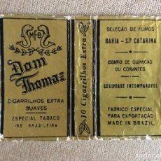 Paquetes de tabaco: PAQUETE DE TABACO DOM THOMAZ MADE IN BRAZIL 10 CIGARRILLOS EXTRA. Lote 144226650